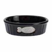 "Class Act 6.5"" Oval Meow Bowl"