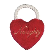 "Zanies ""Naughty"" Holiday Heart Tug Toy"