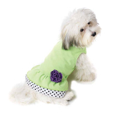 Double Ruffle & Rosette Dog Dress