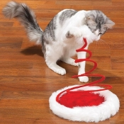 Zanies Santa Paws Hat Cat Toy