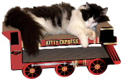 Kitty Express Train Lounger/Scratcher