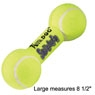 Air Kong Squeaker Dumbbell Large Yellow